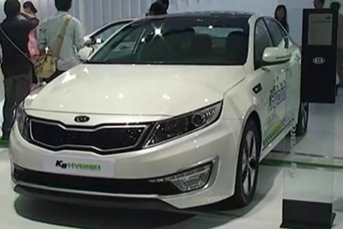 2011广州车展1.1馆韩国起亚K5混合动力版
